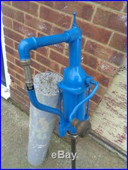 Vintage Shell Oil Rotary Barrel Oil Petrol Gas Hand Crank Pump 6074A H19BPX9X
