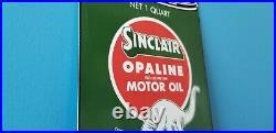 Vintage Sinclair Gasoline Porcelain Gas Auto Oil Quart Can Service Station Sign