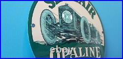 Vintage Sinclair Opaline Gas Oil Automobile Porcelain Service Station Sign