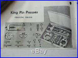 Vintage Snap On Ford King Pin & Spring Perch Tool Press Set-NICE-Alloy Artifacts