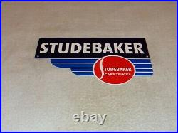 Vintage Studebaker Cars & Trucks Die-cut 12 Metal Dealer Gasoline & Oil Sign