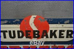 Vintage Studebaker Trucks Garage Office Door Privacy Window Glass Sign 1/5