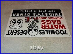 Vintage Thirsty's Diner Us Route 66 Truck Stop 12 Metal Gasoline & Oil Sign Car