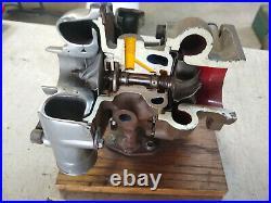 Vintage Turbo Engine Model Miniature Replica Cutaway Teaching Aide Display