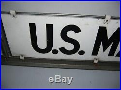 Vintage U. S. Mail Rural Postal Delivery Car Topper Metal Sign & Frame