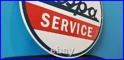 Vintage Vespa Motor Scooter Service Porcelain Automobile Sales Gasoline Sign