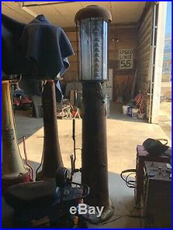 Vintage Visible Gas Pump 10 Gallon Oil Garage Sign Parts Car Truck