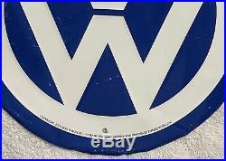 Vintage Volkswagen Metal Sign Wolfsburg RARE