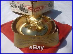 Vintage Willy's Jeep FC170 Truck Rare Metal Toy 22K Gold Mascot Model Accessory