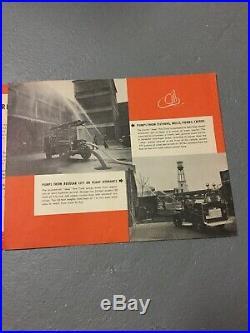 Vintage Willys Jeep Firetruck Brochure CJ2a