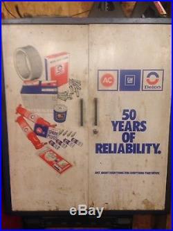 Vintage auto parts cabinet