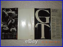 Vintage brochure for opal gt car/from chicago auto show