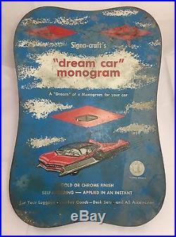 Vintage c1960 Mid Century Store Monogram Concept Car Auto Advertising Display