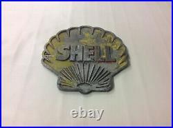 Vintage cast aluminium Shell petrol pump / forecourt / garage sign