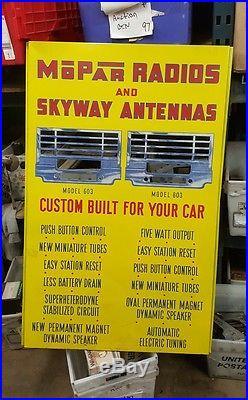 Vintage chrysler plymouth mopar dealership sign skyway radios displays man cave