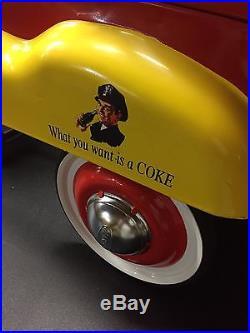 Vintage coca cola pedal car