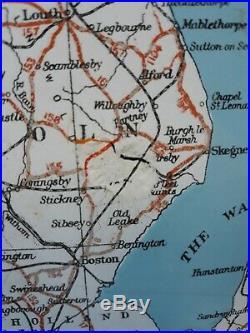 Vintage enamel sign of FIRESTONE MAP England