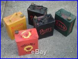 Vintage garage petrol cans