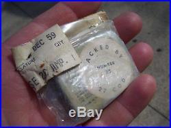 Vintage nos Ford 1959 sealed mint Fuse emergency auto kit parts tool tin box oem