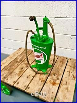 Vintage oil pump, Castrol, Man Cave, Games Room, Vintage cars