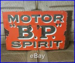 Vintage original bp spirit enamel sign
