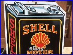 Vintage/retro Style Shell Motor Oil / Shell-mex Ltd Enamel Advertising Sign
