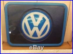 Volkswagen Original Signboard 1980s VW Dealership Lighted Sign Vintage Unused