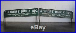Vtg 1940s Seibert Buick Inc GMC Dealership Dealer Truck Sign Signs Columbia MO