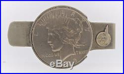 Vtg 1950's You Can't Beat a Pontiac & Silver Dollar Money Clip 1935 Super Nice