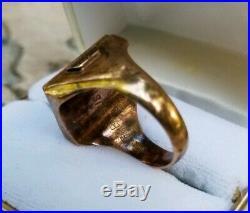 Vtg 1954 Chevrolet Leaders 25 Year Service Award 10k Gold Employee Ring 16 Grams