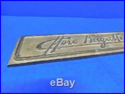Vtg Ettore Bugatti Bronze Plaque Sign Antique Auto Car Dealership Ad Advertising