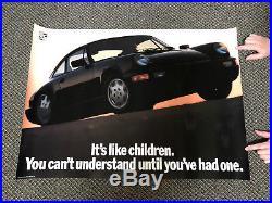 Vtg. Original 1991 Porsche 911 C2 C4 CARRERA Dealer Showroom Poster 28x38 PCNA